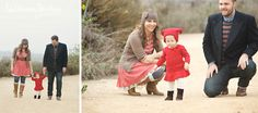 Holiday Family Portraits in Red