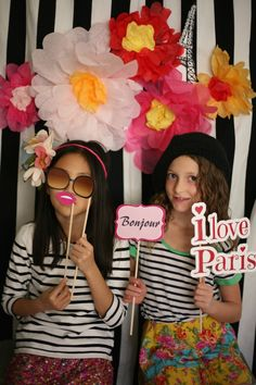 Paris Party Photo Booth, Activities & Fun — my.life.at.playtime.