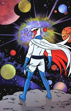 loved watching this as a kid..Battle of the Planets | Gatchaman by Mike Allred