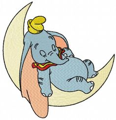 Bernina Embroidery Machine, Machine Embroidery Designs, Baby Elephant Nursery, Flying Elephant, Baby Dumbo, Disney Coloring Pages, Cartoon Coloring Pages, Photo Stitch, Mini Canvas Art