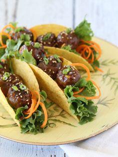 Asian Meatballs Taco