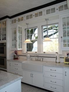 Authentic 1927 Kitchen Vintage Remodel - White White White and Black - Kitchen Designs - Decorating Ideas - HGTV Rate My Space | terrebonne  | Sinks…