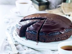 Chocolate and courgette, who would've thought? This tender courgette fudge cake recipe has a good chocolate flavour, there's no hint of the courgettes. They just help keep the cake moist, while adding some nutritional goodness