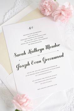 Whimsical champagne wedding invitations   http://www.shineweddinginvitations.com/blog/whimsical-script-wedding-invitations-2/