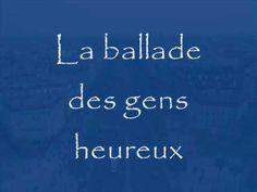 ▶ Gerard Lenormand - la ballade des gens heureux - YouTube