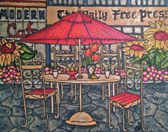 """Nanaimo Cafe"" 24""x30"" Cafe 24, Modern, Painting, Art, Craft Art, Trendy Tree, Painting Art, Kunst, Paintings"