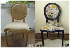 reupholstered chair in popart style