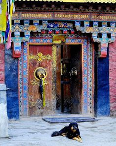 Porte tibétaine - Tibet