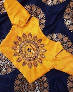 15 Fresh maggam work blouse designs of new season Silk Saree Blouse Designs, Fancy Blouse Designs, Bridal Blouse Designs, Blouse Neck Designs, Silk Sarees, Peacock Blouse Designs, Indian Blouse Designs, Indian Sarees, Hand Work Blouse Design