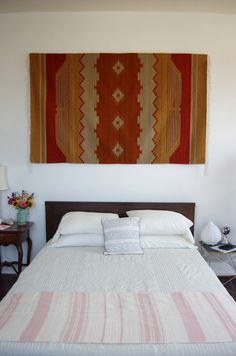 Oaxacan textiles in Jess Schreibstein's Baltimore apartment