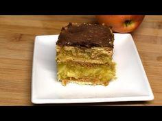 Kekszes almás sütemény - sütés nélkül /Anzsy Konyhája - YouTube