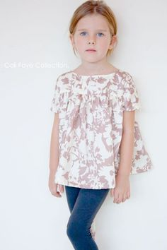 The Voilà Blouse PDF pattern and tutorial - sizes 2t -10, childrens sewing pattern - Instant download: