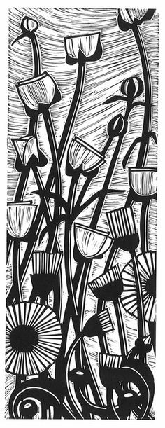 ✽ 'buttercups and daisies' - helen roddie - linocut Woodcut Art, Linocut Prints, Art Prints, Block Prints, Linoleum Block Printing, Illustrator, Linoprint, Art Graphique, Tampons