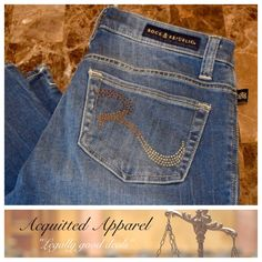 """Rock and Republic Crop Shorts 19"""" inseam Rock and Republic Crop Shorts Size 2 Like New Bling Back Pocket 98% cotton 2% spandex Approximate 19"""" inseam and 7.5"""" rise Item Location Bin T1 Rock & Republic Jeans Ankle & Cropped"""