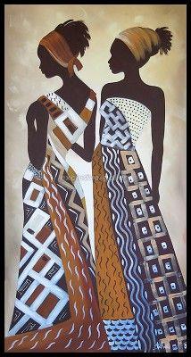 African Drawings, African Artwork, African Art Paintings, Black Girl Art, Black Women Art, African American Art, African Men, African Attire, African Style