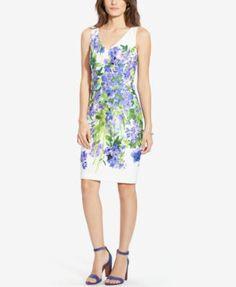 Lauren Ralph Lauren Floral-Print Sateen Dress   macys.com