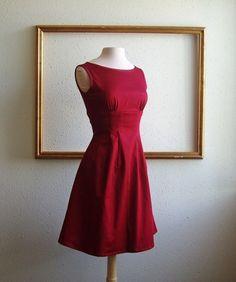 Audrey Hepburn dress sleeveless plus size available- AUDREY Style. $89.00, via Etsy.