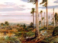 jurassic_landscape_by_zdenek_burian_1960.JPG (1600×1174)