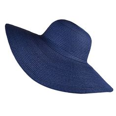 Blue Women Lady Floppy Hat Straw Hat Wide Brim Beach Hat Sun Hat Summer  Gift Sun 00a63e99764b