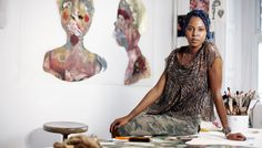 Wangechi Mutu is an African artist renowned for her haunting and dramatic female figures. An artist from Nairobi, Kenya, Mutu creates painted and collaged images of the female body offering a comme… Ap Art History 250, Romare Bearden, Kehinde Wiley, African Traditions, Africa Art, Africa Style, African Artists, David Hockney, African Diaspora