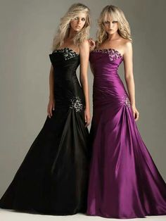 Glam evening gowns