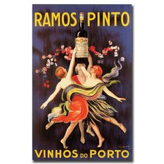 'Ramos Pinto Vinhos do Porto' Vintage Advertisement on Canvas