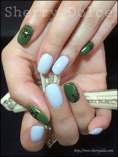 Moss green☆Nail art
