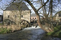 Hotton (Belgium), the old Faber watermill (1729) and the Ourthe River