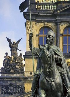 St. Wenceslas statue, on Wenceslas Square in the centre of Prague