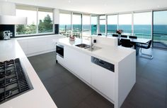 white modern kitchen - Google Search