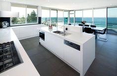 white modern kitchen - Google Search