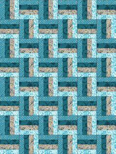 Reflections Blue Large PRE-CUT Quilt Kit Blocks | Turquoise, Place ... : precut quilt kit - Adamdwight.com