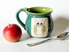In Stock one Back to School Mug Fall Mug  Holds 13 by MissPottery, $28.00