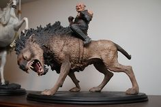 Lord of the Rings LOTR Sideshow Weta Gothmog on Warg statue