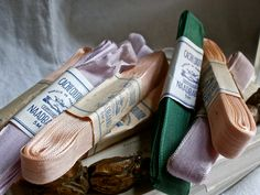 vintage French ribbons