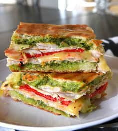 turkey, pepper, pesto panini