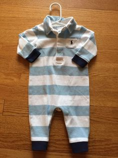 Ralph Lauren Baby Boy Coverall Outfit Blue 6 Months Polo | eBay