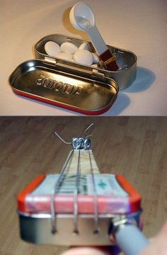 Takes some work, but several clever things you can do with Altoids Tins.