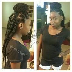 Another set of my signature Top Knot Jumbo Twists, 16inch! #newbie #werk    #cocostyled #braids #twists #protectivestyles #braidsandbeads #kidsbraids #crochetbraids #naturalhair #crochetweave #naturalchix #cocostyles81 #atlantabraider #braidattack #kinkytwists #atlantacrochetbraids #crochettwists #PROTECTIVESTYLES #protectivestyling #urbanhairdaily #amazingnaturalhair #urbanhairpost #natty_coco #catchtheez_nappz #naturalhairstylist  #teamnatural #naturalhairdaily #4chairchics #braidersunited
