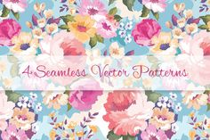 Floral patterns set by Juliett Illustration on Creative Market