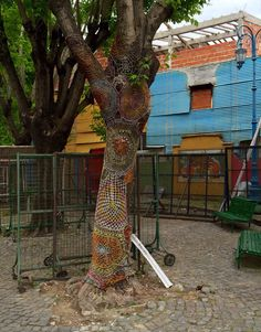 Yarn bombing, La Boca, Buenos Aires, South America. Photo by Dayna J. Collins.