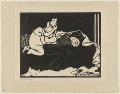 Félix Vallotton (French, 1865–1925). The Other's Health (La Sante de l'autre) from Intimacies (Intimités). 1897. Woodcut.