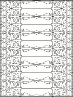 Welcome to Dover Publications +  Creative Haven Art Nouveau Patterns Coloring Book