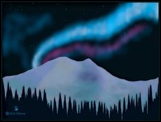 Art project- use chalk for northern lights and trees. Use white construction paper for the mountain.