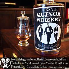 Corsair Quinoa Whiskey is a tasty little gem from Tennessee and over the years I've grown to like it more and more. Could be my perception or it could be that their batches are getting better and batter. All I know is that it has a great rustic quality to it that starts in the nose and runs down through the finish and I'm enjoying this batch 27.