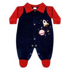 Macacão para Enxoval Bebê Menino Foguete :: 764 Kids Loja Online, Roupa bebê e infantil !