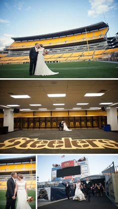 Sports Fans' Heinz Field Wedding by Meaghan Elliott Photography