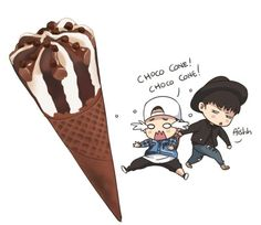 Hahaha I keep hearing him say choco cone choco cone❤️❤️ mix and match was amazing