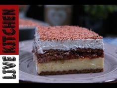 Εύκολη Γλυκάρα στο τσακ μπαμ - Γλυκό ψυγείου - No Bake Vanilla Pudding Cake Recipe - YouTube Kitchen Living, Tiramisu, Recipies, Cheesecake, Food And Drink, Baking, Ethnic Recipes, Desserts, Youtube