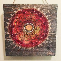Mandala Acrylic and sharpie On wood pallet